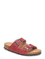 glitter sandal - RED