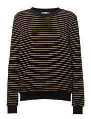 Sweat knit - BLACK / MUSTARD