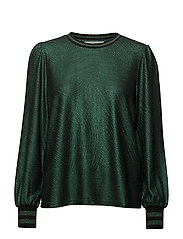 Blouse - GREEN GLITTER