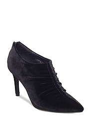 Shoe stiletto velvet - BLACK