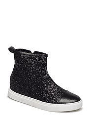 Sneaker high glitter - BLACK