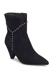 Boot with Y studs silver - BLACK