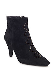 boot suede studs - BLACK