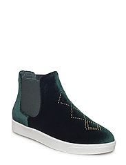 Boot Loafer Velvet - DARK GREEN