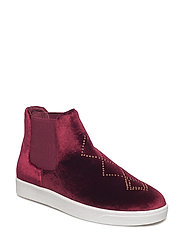 Boot Loafer Velvet - DARK RED