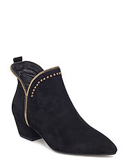 boot raw zip suede - BLACK