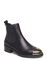 boot leather - BLACK