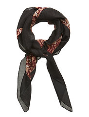 Red/blk scarf - BLACK RED MIX