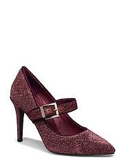 High heel glitter - PLUM GLITTER