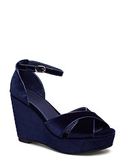 Shoe velvet - DARK BLUE