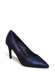 Shoe high heel shiny - BLUE