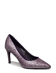 Shoe high heel glitter - PURPLE GLITTER