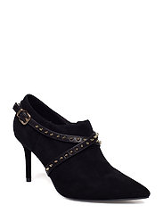 Boot high heel suede - BLACK