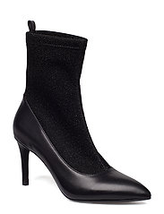 Boot high heel sock - BLACK