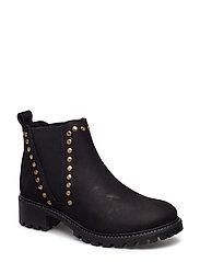 boot w. studs - BLACK