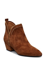 boot raw zip suede - BROWN