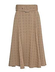 Skirt - BROWN CHECK