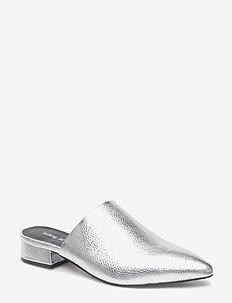 Shoe flat - mules & slipins - silver