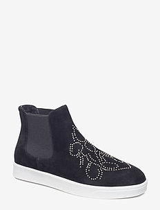 Boot Loafer - höga sneakers - black