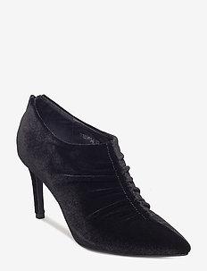 Shoe stiletto velvet - ankelstøvler med hæl - black