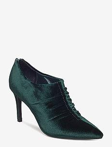 Shoe stiletto velvet - talon haut - dark green