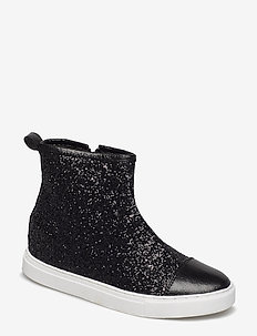 Sneaker high glitter - höga sneakers - black