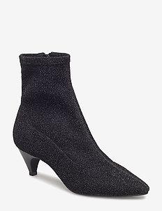 Boot high textile - ankelstøvler med hæl - black