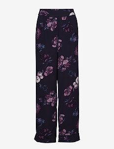 Pants - wide leg trousers - d.blue
