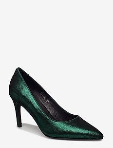 Shoe high heel shiny - klassiske pumps - green