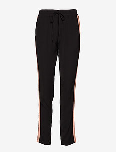Pants - slim fit-byxor - black