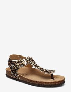 Slipper - flade sandaler - leopard