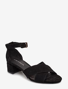 Stiletto - heeled sandals - black