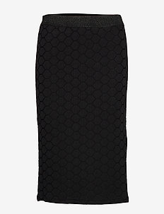 Skirt - midinederdele - black