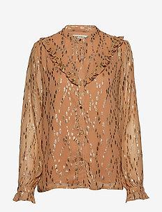 Shirt - long sleeved blouses - camel
