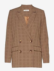 Blazer - oversize-bleiserit - brown check