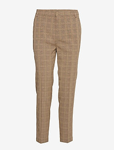 Pants - broeken med straight ben - brown check