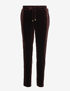 Pants - broeken med straight ben - dark brown