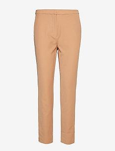 Pants - straight leg trousers - camel