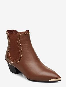 Boot - ankelstøvler med hæl - brown