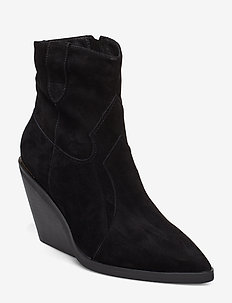 Boot - ankle boots with heel - black