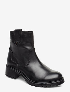 Boot - flat ankle boots - black