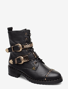 boot leather new - BLACK