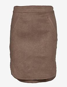 Skirt - midi skirts - dark brown