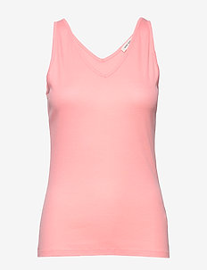 Top - basic t-shirts - coral
