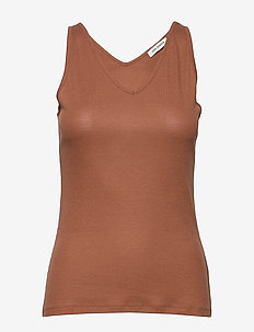 Top - basic t-shirts - warm camel
