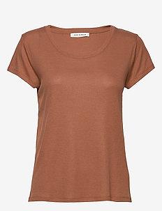 T-shirt - basic t-shirts - warm camel