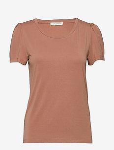 T-shirt - rosey camel
