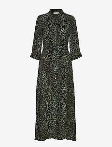 Dress - shirt dresses - faded green