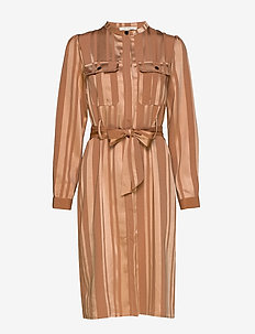 Dress - midi dresses - camel