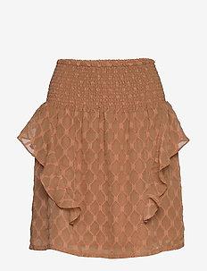 Skirt - short skirts - camel